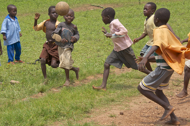 childdren playing outdoors